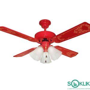 Ceiling fan 3 Lampu Uchida CF125ERD terbaik
