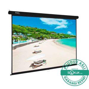 Layar Manual Pixelscreen 84 inch