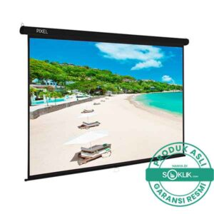 Screen Projector Gantung Pixelscreen 96 Inch